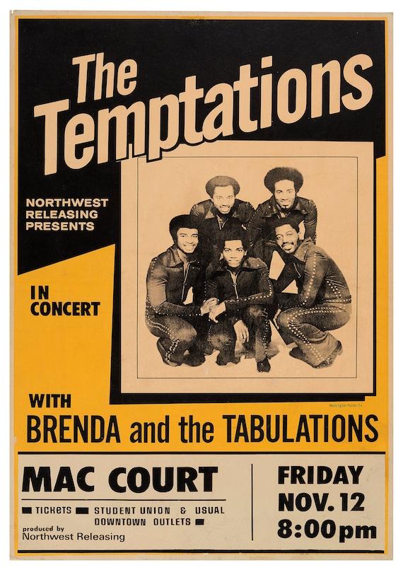 Art print POSTER Canvas The Temptations Motown Music 1