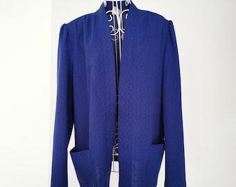 Royal blue blazer   Etsy