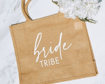 Bride Tribe Tote Bag - Cute Gift for Bridesmaids - Fun Bachelorette Party Favor - Bridesmaids Presents from Bride
