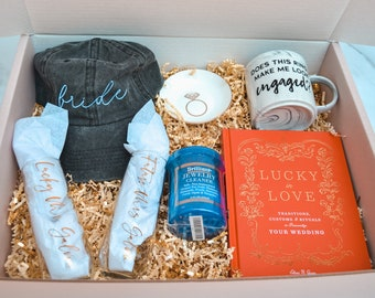 Babe to Bride - The Engaged Box - Engaged and Wedding Planning Care Package - Cute Gift for Bride - Perfect Engagement Gift for Bride/Couple