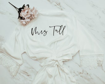 Robe for Bride - Bridal Robe - Mrs. Robe - Wifey Robe - Cute Gift for Bride