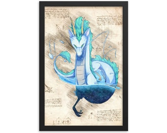 Spirited Away Anime Poster Watercolor Anime Print Studio Ghibli Wall Art Gift n2