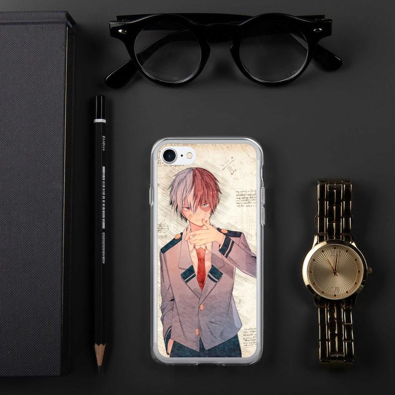 Shoto Todoroki Class A 1 Japanese Anime Boku No Hero Academia Watercolor Drawing Aesthetics Iphone Case