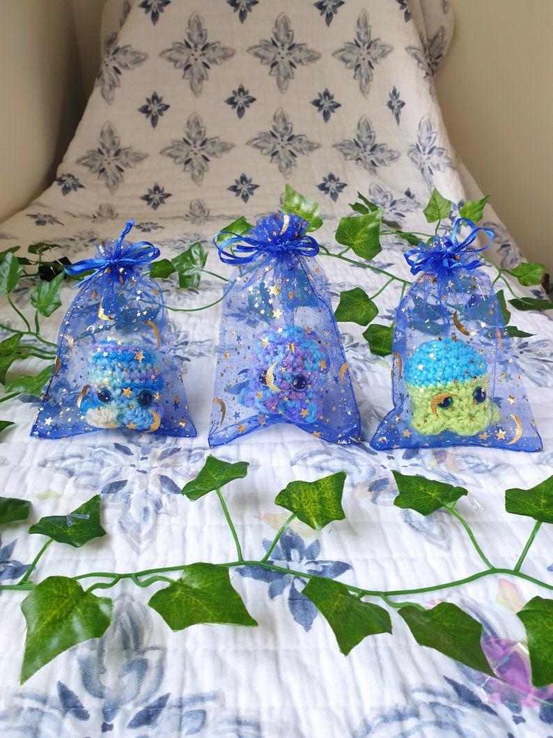 colorful unique artdecor Handmade Gift celestial accessories Adopt a magicalcute present Surprise Crochet Shooting Star Octopus