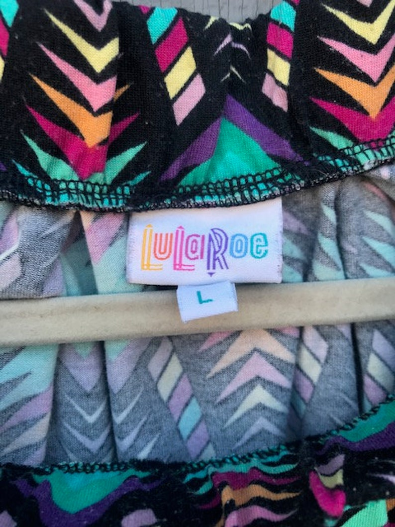 90s LulaRoe Diamond Print Skirt Rainbow Colorful 90s Vintage Unique Abstract