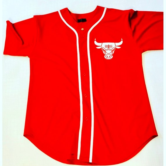 check out 5adba e0524 Chicago Bulls Baseball Jersey