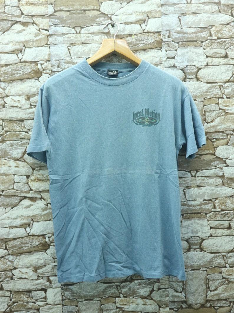 Vintage Local Motion Big Logo T Shirt Surf Aloha Hawaii Top Tee Shirt Size M