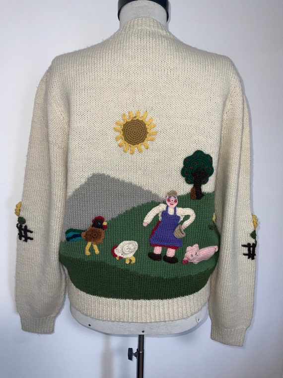 80's novelty sweater,scenic sweater vintage,butte… - image 1