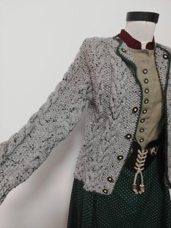 Tyrolean hand knit sweater, wool sweater, long sl… - image 2