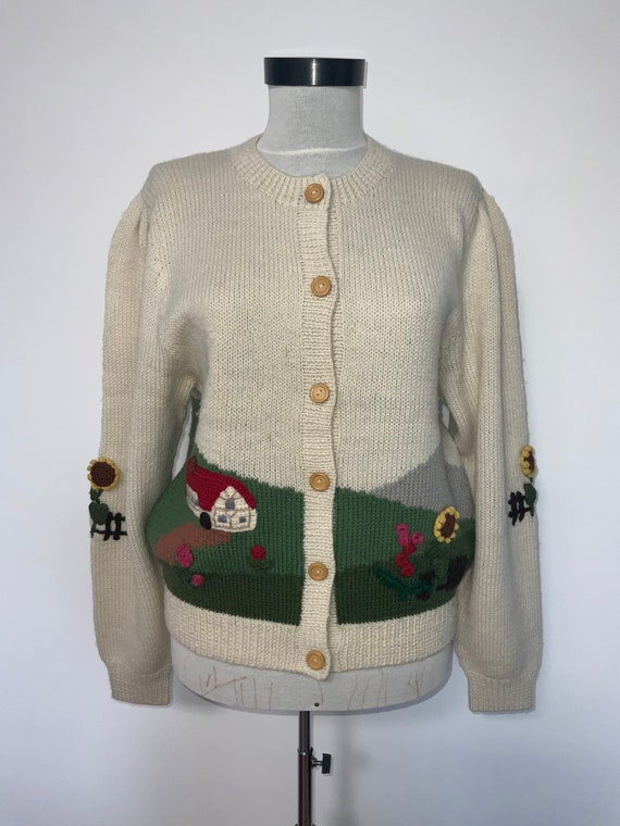 80's novelty sweater,scenic sweater vintage,butte… - image 2