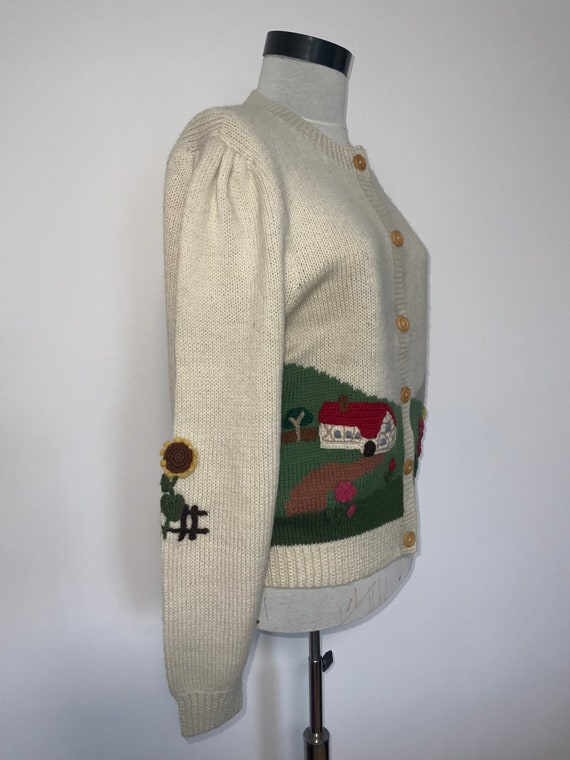 80's novelty sweater,scenic sweater vintage,butte… - image 8