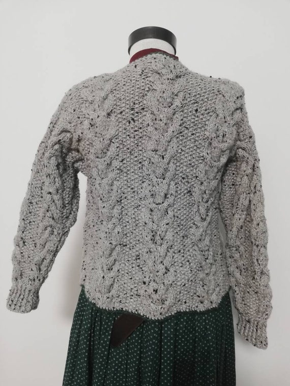 Tyrolean hand knit sweater, wool sweater, long sl… - image 4