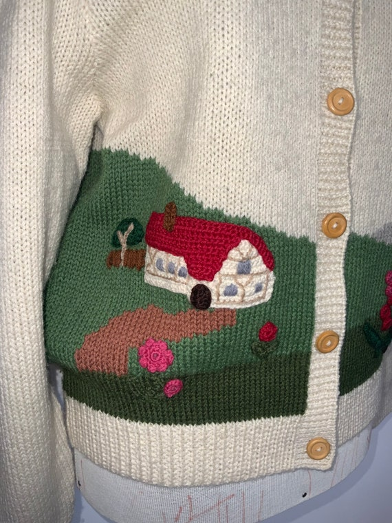 80's novelty sweater,scenic sweater vintage,butte… - image 9