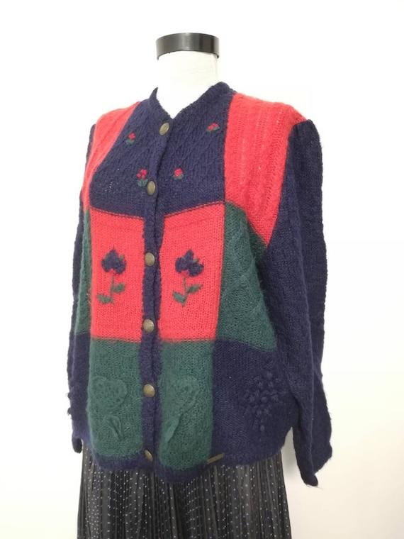 Tyrolean  sweater, Giesswein cardigan, Austrian sw