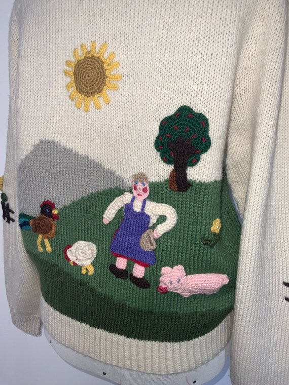 80's novelty sweater,scenic sweater vintage,butte… - image 3