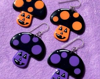 Spooky Mushroom Earrings