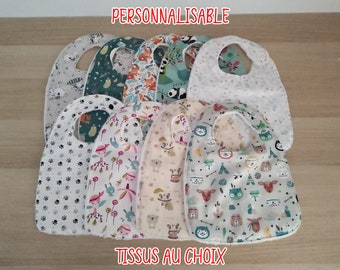 Personalized baby bib birth at 24 months, newborn pressure bib, newborn bib, birth gift, bib, girl, boy