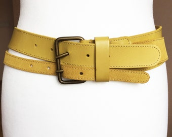 Wide suede belt | Etsy