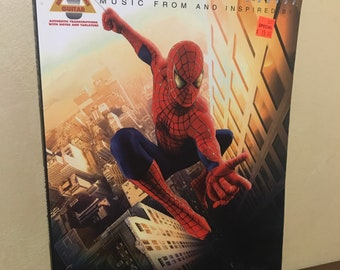 Music From and Inspired By Spiderman Recorded Versions Guitar - Recorded Versions Guitar Movie Music Books - Sheet Music 90s Movies