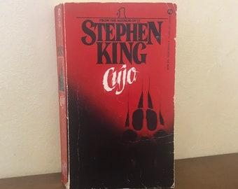Stephen King Cujo 1982 Red Black Cover   Vintage Stephen King Horror Cujo