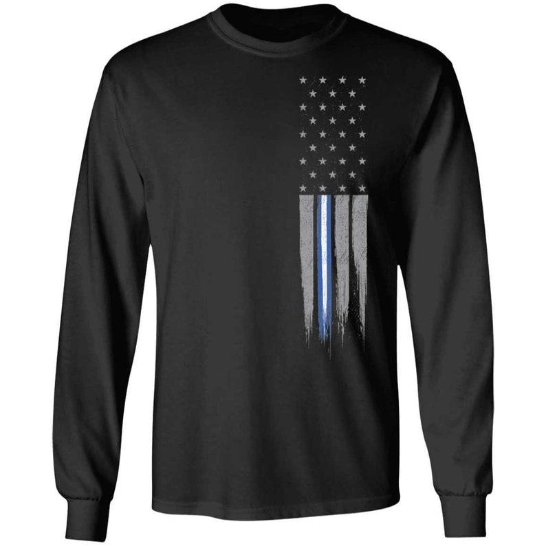 EMS  Rescue Thin Line American Flag Long Sleeve T-Shirt