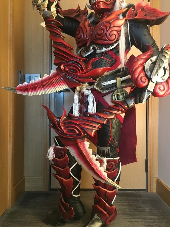 Monster Hunter World Odogaron Cosplay Dual Blades Etsy