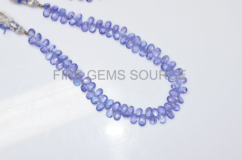 Tanzanite Pear Shape Faceted Beads 4x6-5x8 mm Natural Tanzanite Pear Shape Faceted Briolette BL45FGS14