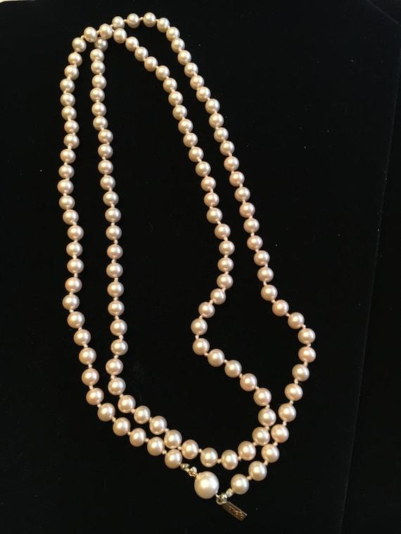 Vintage Marvella Champagne Glass Pearl Necklace - image 6