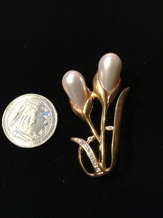 Vintage Marvella Faux Pearl Earrings & Faux Pearl… - image 4