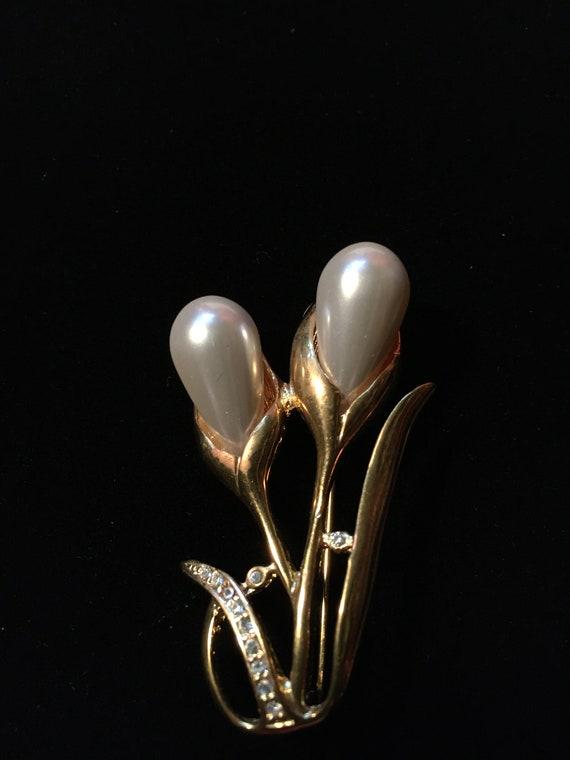Vintage Marvella Faux Pearl Earrings & Faux Pearl… - image 6