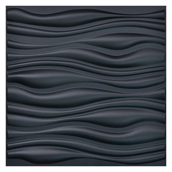 White Eco-Friendly 3D Wall Panel Textured Plastic Tile 10.8 Sq Ft 19.7 x 19.7 4 Tiles