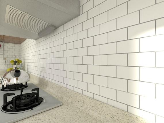 2.6/' x 2.3/' Peel and Stick 3D Wall Panels White Brick Wallpaper 1 Piece