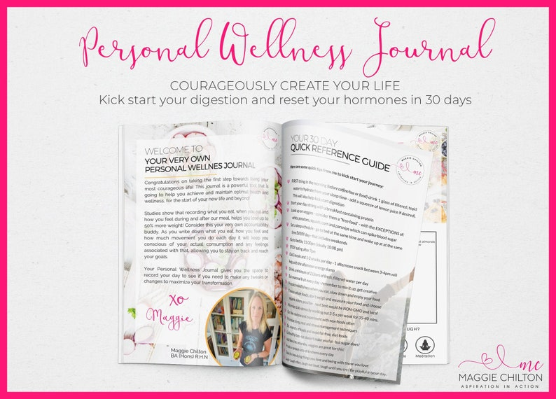 Womens Personal Wellness Journal Printed book  womens image 0