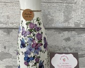 Butterfly vase - decoupage vase, gift, flowers, Mother s Day gifts
