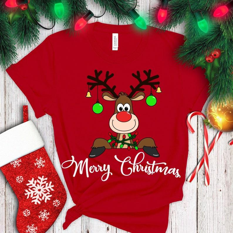 Merry Christmas SVG Reindeer SVG Christmas SVG  Reindeer image 0