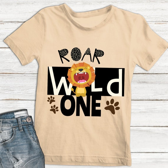 Wild One Svg Cute Lion Svg Safari Svg Wild One Cut File Etsy