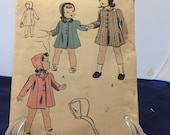 Girl 39 s Coats Pattern (1950 39 s)