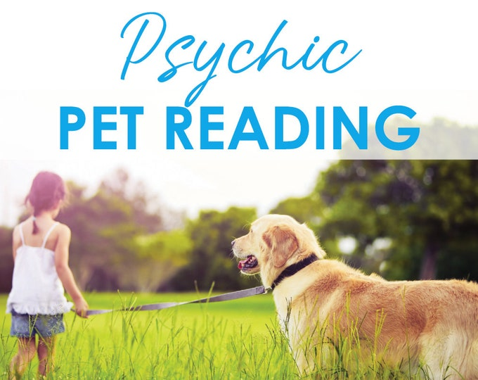 Featured listing image: Psychic Pet Reading with Lisa Saliture Medium Animal Psychic Tarot Medium Dog Cat Bird Pet Gifts Pet Communication Pet Grief