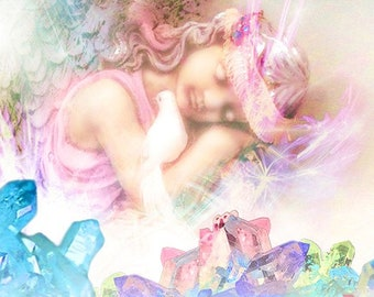 Balancing Crystal Fairy Grid Session with Lisa Saliture Psychic Tarot Medium Readings