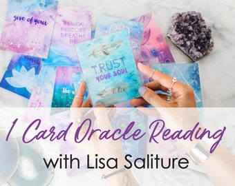 1 Card Oracle Reading & Crystal Recommendation for 20 cents (Free) with Lisa Saliture Psychic Tarot Medium Readings