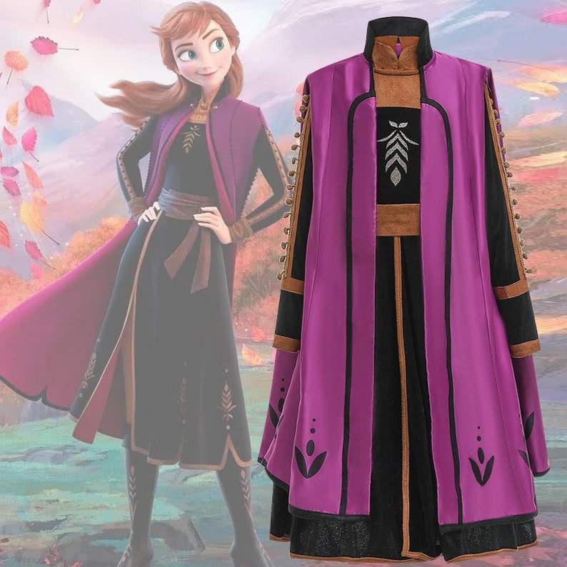 Frozen 2 Inspired Anna Princess Outfit Costume Set