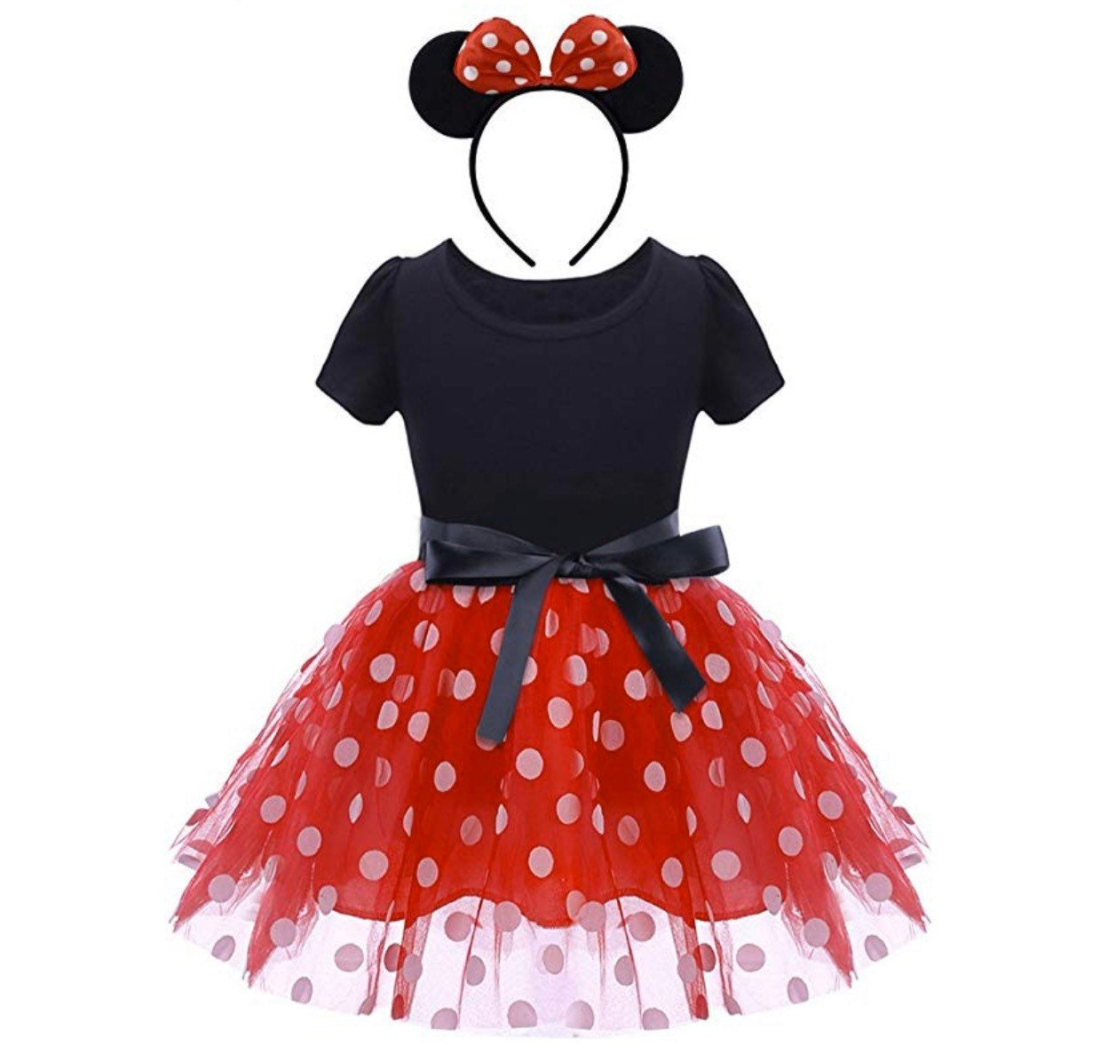 Baby Girls Kid Minnie Mouse Polka Dot Party Tulle Tutu Dress Skirt Fancy Costume
