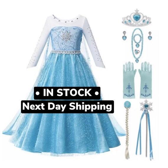 Sale Disney Inspired Frozen Elsa Snow Princess Dress Costume Etsy