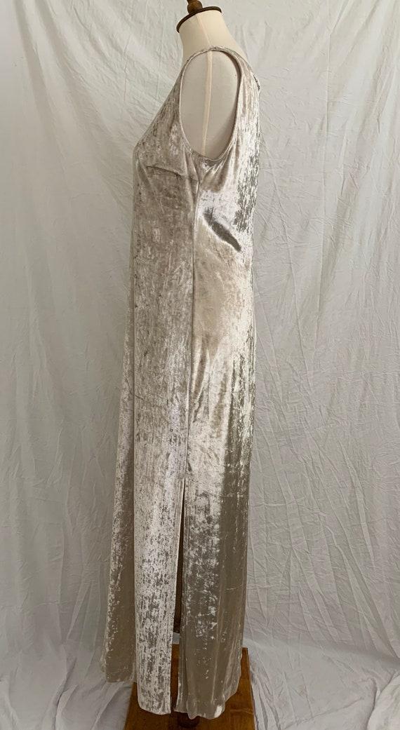 Vintage 90's Carole Little Crushed Velvet Dress - image 3
