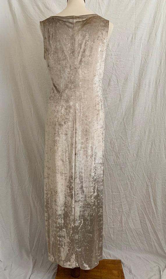 Vintage 90's Carole Little Crushed Velvet Dress - image 6