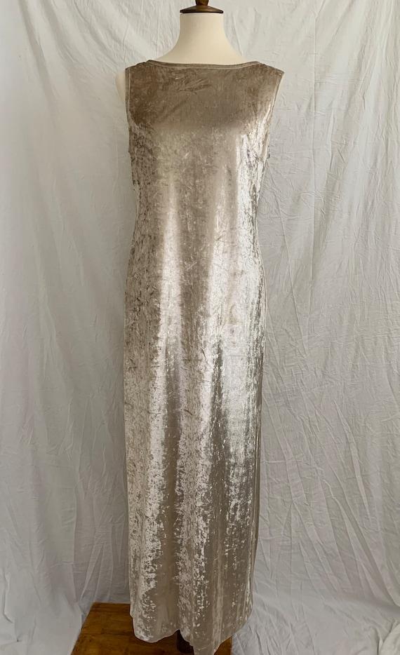 Vintage 90's Carole Little Crushed Velvet Dress