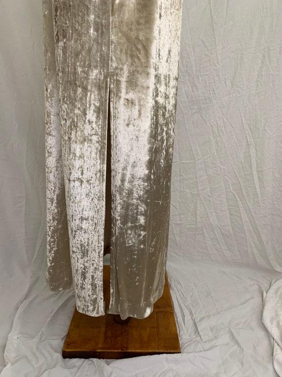 Vintage 90's Carole Little Crushed Velvet Dress - image 4