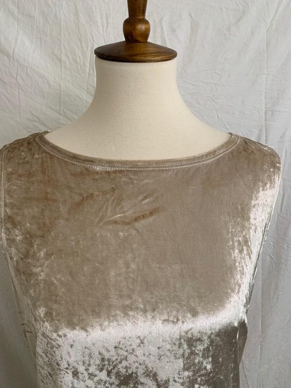 Vintage 90's Carole Little Crushed Velvet Dress - image 2