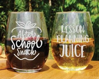 gifts for teachers Wine glass for teacher remote learning personalized wine glass for teacher virtual teacher gifts funny teacher gifts