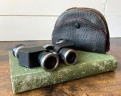 Vintage Opera Glasses Mikron Binoculars With Purple Velvet Case Theater Glasses With Micro Lens Mini Binoculars